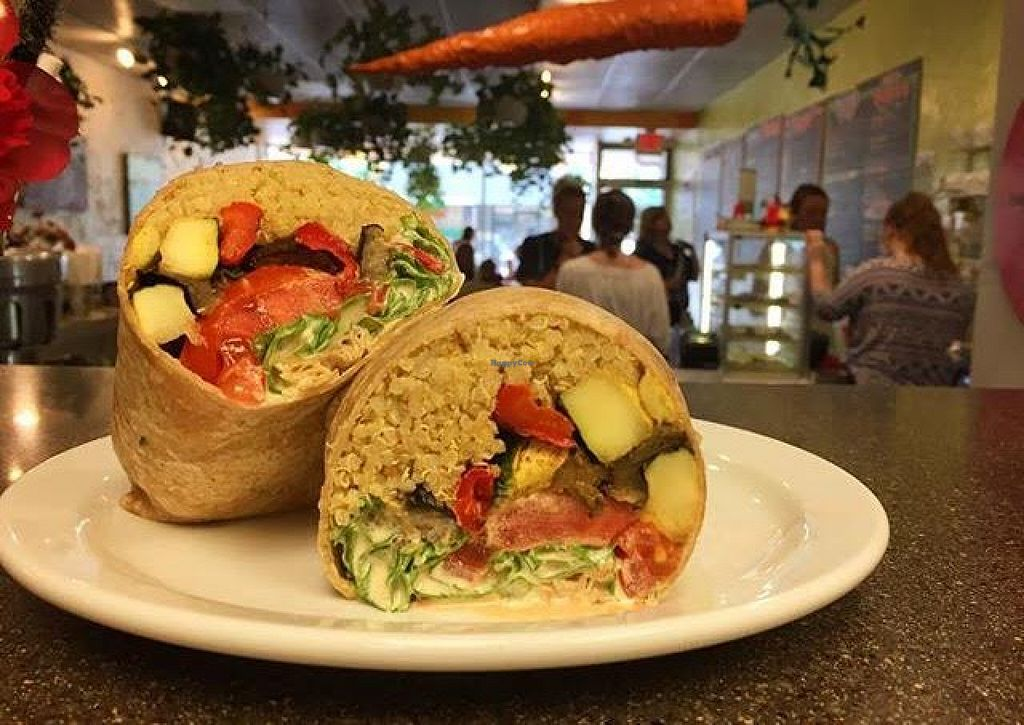 """Photo of Main Squeeze Natural Foods Cafe  by <a href=""""/members/profile/torykassabaum"""">torykassabaum</a> <br/>Roasted Veggie Wrap! <br/> September 8, 2015  - <a href='/contact/abuse/image/2159/116909'>Report</a>"""