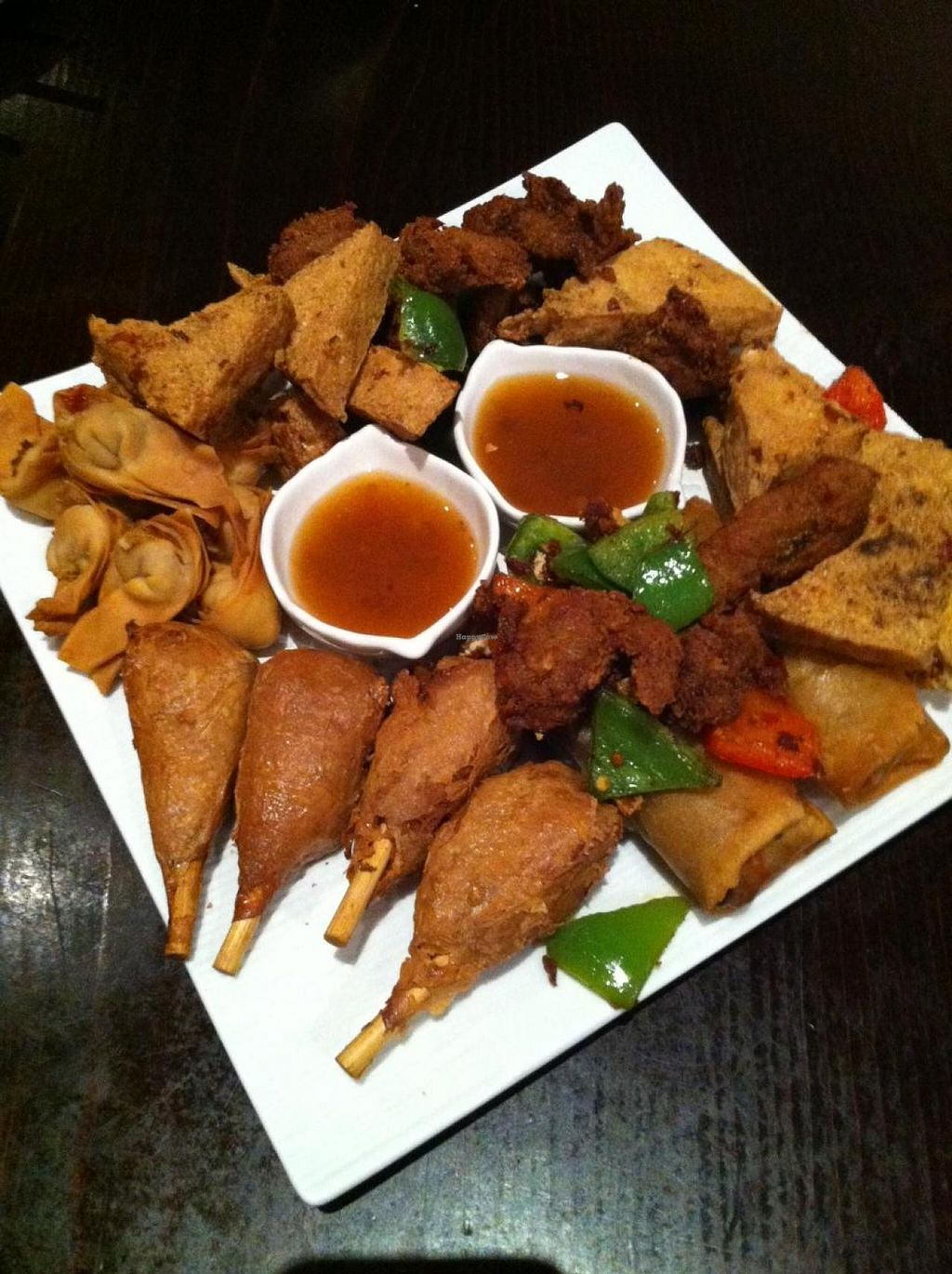 "Photo of Panz Veggie Restaurant  by <a href=""/members/profile/vegan%20frog"">vegan frog</a> <br/>The big 5. Deep fried starter for 4 people <br/> November 29, 2014  - <a href='/contact/abuse/image/21602/86740'>Report</a>"