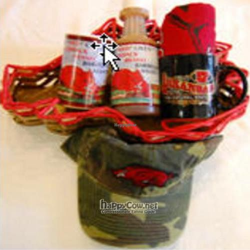 """Photo of 4square Gifts  by <a href=""""/members/profile/bevegan"""">bevegan</a> <br/>Razorback Gift Basket <br/> October 27, 2010  - <a href='/contact/abuse/image/21636/6232'>Report</a>"""