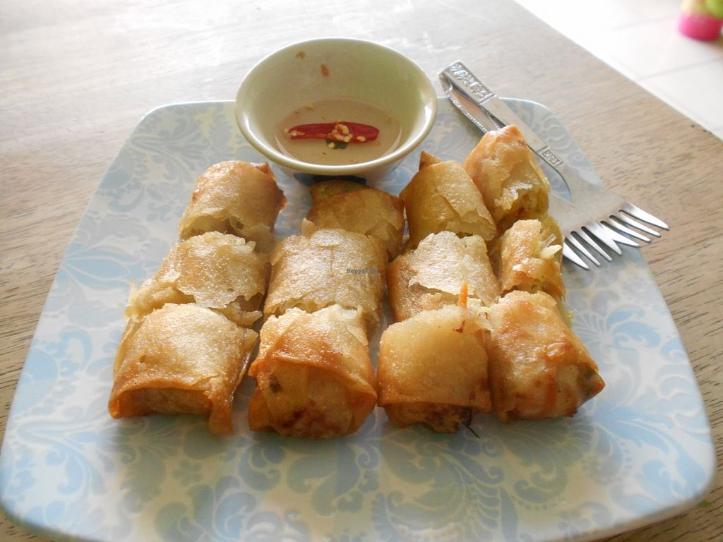 """Photo of Pattaya Vegetarian Food  by <a href=""""/members/profile/Kelly%20Kelly"""">Kelly Kelly</a> <br/>Pattaya Vegetarian Food  May 2016  Spring rolls <br/> May 30, 2016  - <a href='/contact/abuse/image/21688/151402'>Report</a>"""