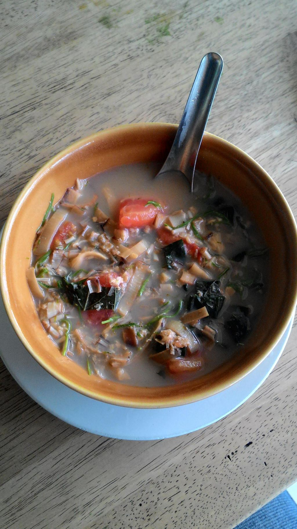 """Photo of Pattaya Vegetarian Food  by <a href=""""/members/profile/Mister%20Yeti"""">Mister Yeti</a> <br/>banana flower soup (prepared with pla-ra, e.g. rather smelly fermented vegetarian fish paste.) <br/> January 19, 2015  - <a href='/contact/abuse/image/21688/90674'>Report</a>"""