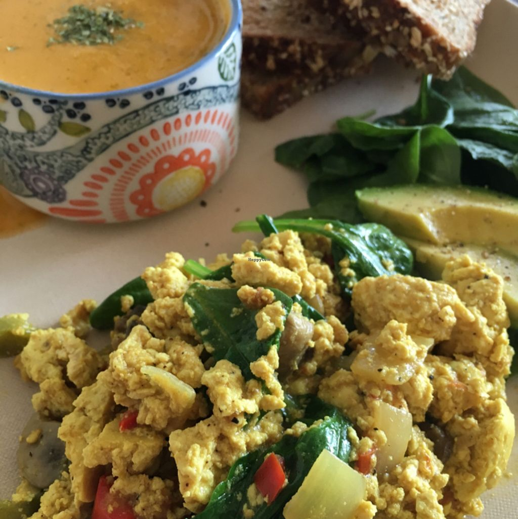 """Photo of Peace Cafe  by <a href=""""/members/profile/Veg4Jay"""">Veg4Jay</a> <br/>Tofu Scramble <br/> May 1, 2016  - <a href='/contact/abuse/image/21735/146971'>Report</a>"""