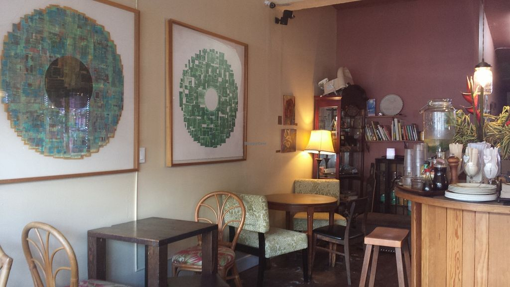 """Photo of Peace Cafe  by <a href=""""/members/profile/vegansoul"""">vegansoul</a> <br/>a few of the tables at Peace Cafe <br/> May 25, 2016  - <a href='/contact/abuse/image/21735/150777'>Report</a>"""