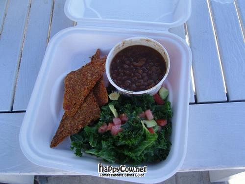 "Photo of Raw and Juicy - Food Trailer  by <a href=""/members/profile/lilmammal"">lilmammal</a> <br/>Kale salad with lentil soup <br/> April 29, 2012  - <a href='/contact/abuse/image/21781/31188'>Report</a>"