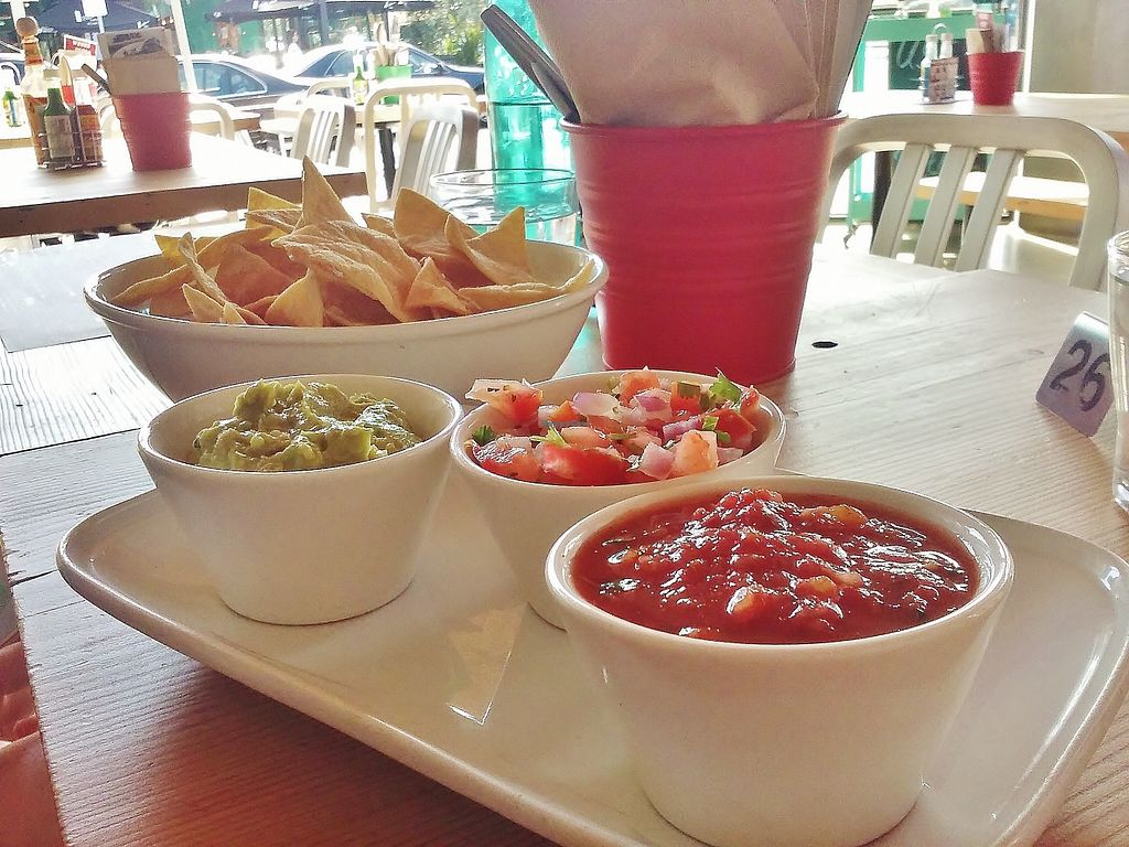 """Photo of Bay City Burrito  by <a href=""""/members/profile/verbosity"""">verbosity</a> <br/>Guacamole & Salsa Sampler <br/> October 4, 2015  - <a href='/contact/abuse/image/21788/120137'>Report</a>"""