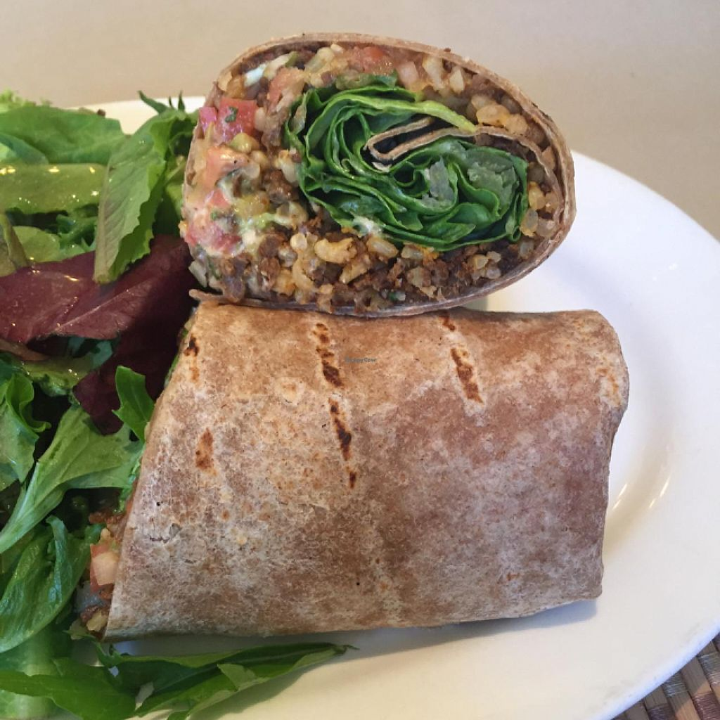 "Photo of Green Earth Vegan Cuisine  by <a href=""/members/profile/JustineHsu"">JustineHsu</a> <br/>Burrito! <br/> June 26, 2015  - <a href='/contact/abuse/image/21789/107371'>Report</a>"
