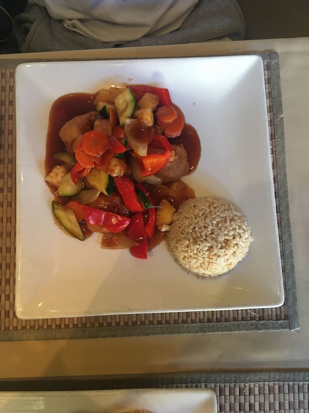 "Photo of Green Earth Vegan Cuisine  by <a href=""/members/profile/TinaCheong"">TinaCheong</a> <br/>Sweet and sour ""chicken"" with brown rice  <br/> March 16, 2018  - <a href='/contact/abuse/image/21789/371417'>Report</a>"