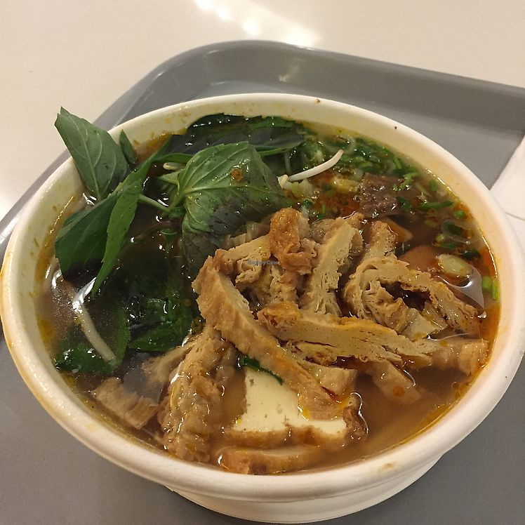 """Photo of Loving Hut - Westfield Mall Food Emporium  by <a href=""""/members/profile/pilks"""">pilks</a> <br/>spicy pho <br/> June 14, 2017  - <a href='/contact/abuse/image/21790/268875'>Report</a>"""