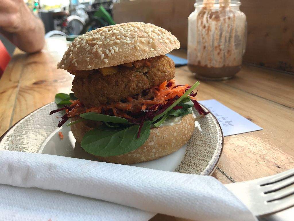 """Photo of Sprout and the Bean  by <a href=""""/members/profile/Joncolours"""">Joncolours</a> <br/>Tofu burger <br/> March 17, 2018  - <a href='/contact/abuse/image/21795/371576'>Report</a>"""