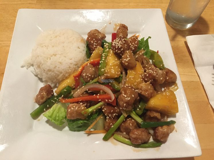 """Photo of Vegan Kitchen  by <a href=""""/members/profile/Shanaynay85"""">Shanaynay85</a> <br/>my sweet and sour pineapple dish <br/> October 2, 2016  - <a href='/contact/abuse/image/21811/179234'>Report</a>"""