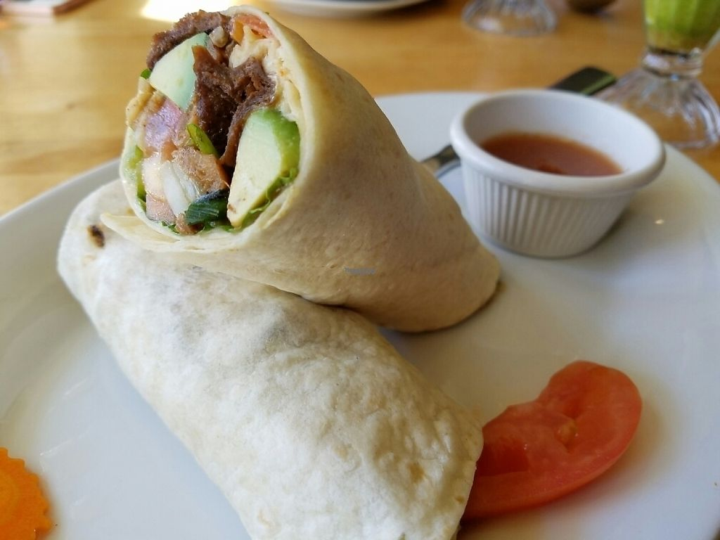 """Photo of Vegan Kitchen  by <a href=""""/members/profile/EverydayTastiness"""">EverydayTastiness</a> <br/>Asian burrito <br/> November 13, 2016  - <a href='/contact/abuse/image/21811/189079'>Report</a>"""