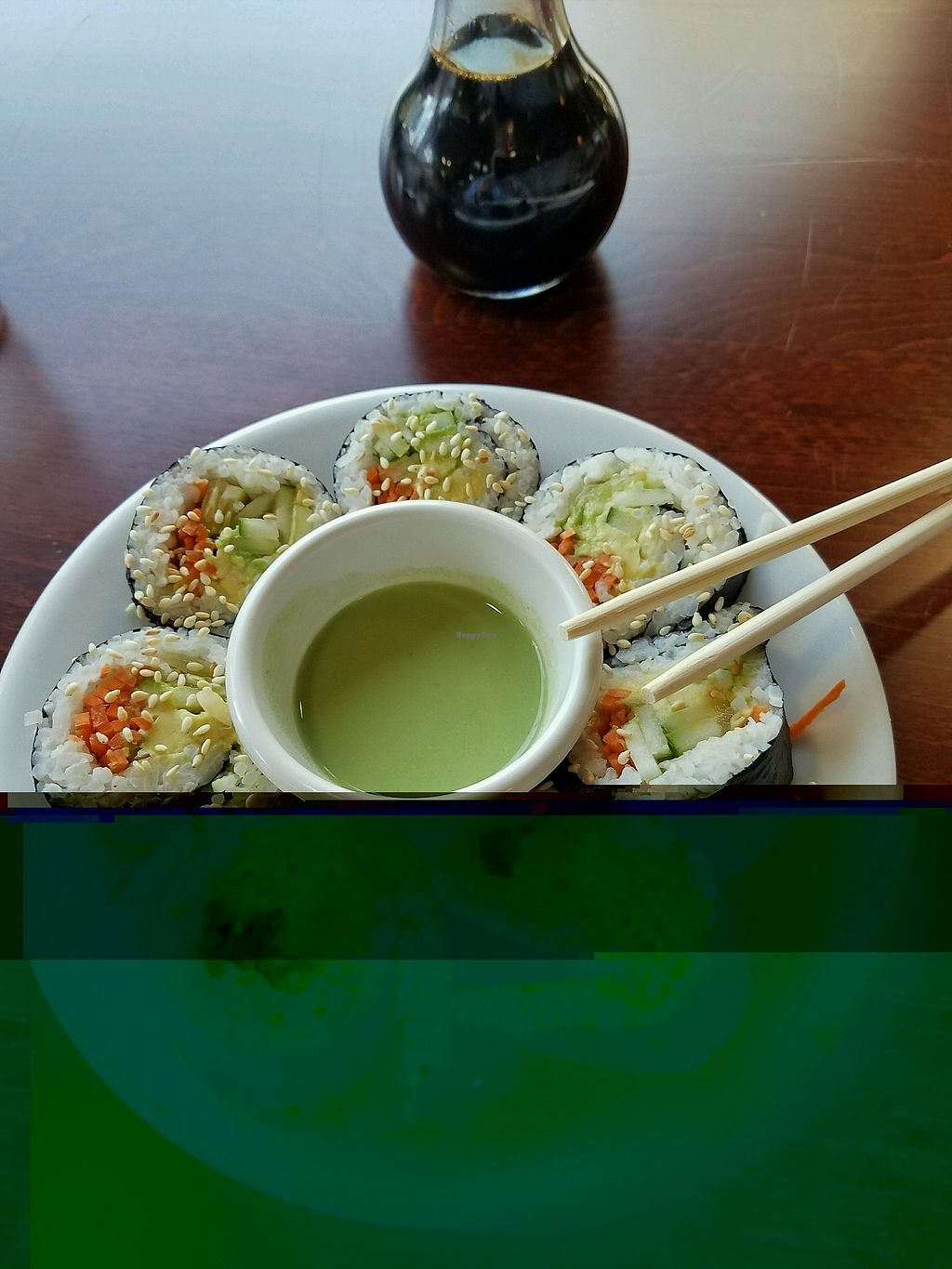 """Photo of Vegan Kitchen  by <a href=""""/members/profile/Dark%26Stormy"""">Dark&Stormy</a> <br/>the Avocado rolls! yum <br/> January 1, 2018  - <a href='/contact/abuse/image/21811/341498'>Report</a>"""