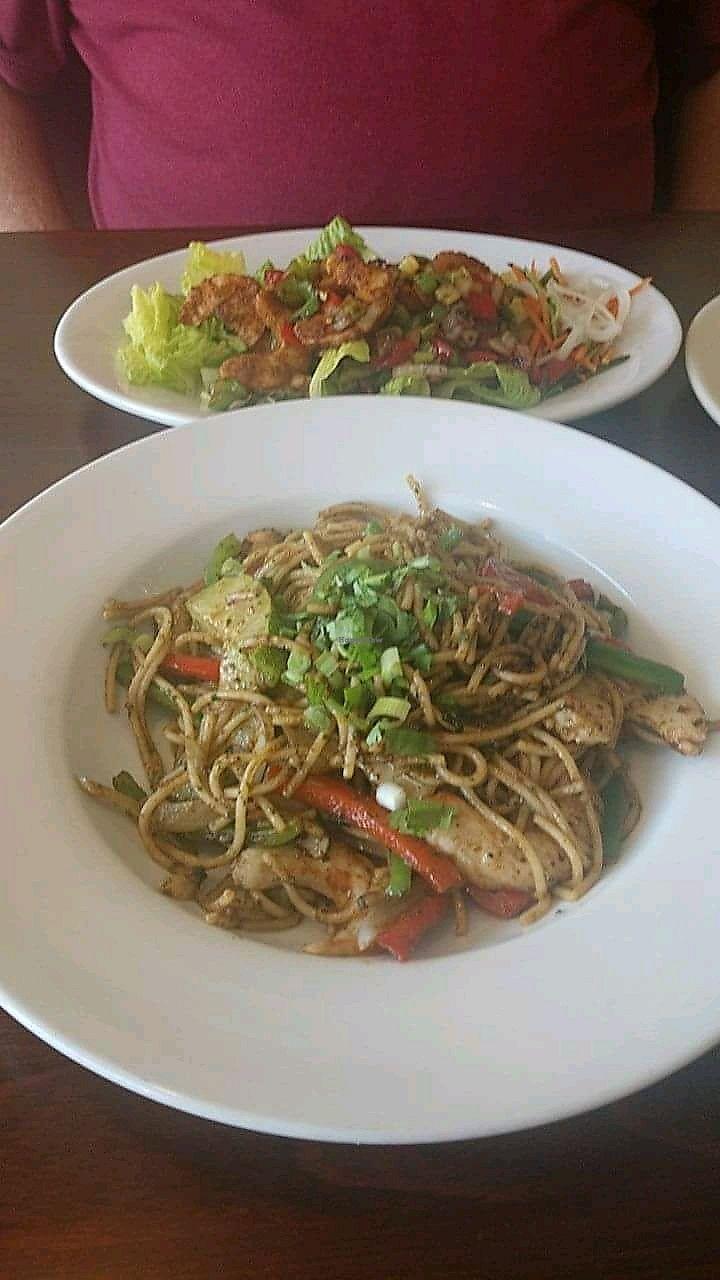 "Photo of Vegan Kitchen  by <a href=""/members/profile/JoanDownen"">JoanDownen</a> <br/>Shrimp Cha Cha and Pesto Shrimp Pasta <br/> April 29, 2018  - <a href='/contact/abuse/image/21811/392647'>Report</a>"