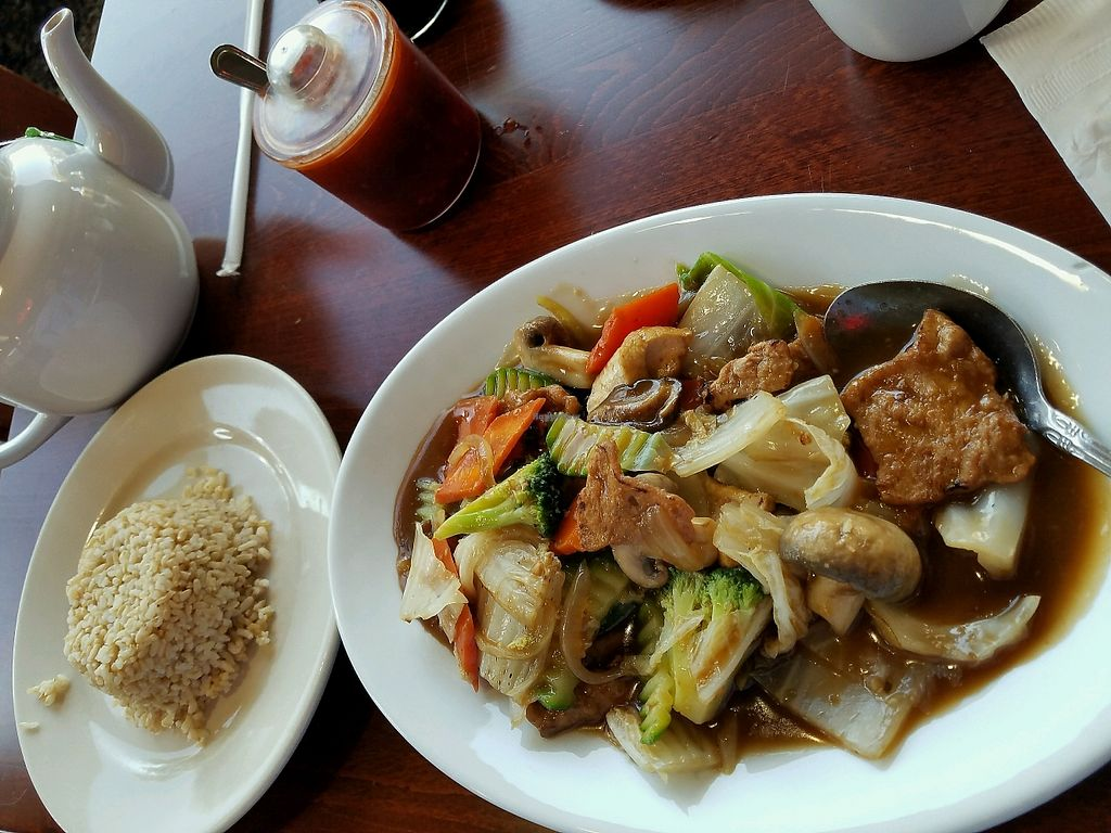 """Photo of Vegan Kitchen  by <a href=""""/members/profile/Dark%26Stormy"""">Dark&Stormy</a> <br/>veggie stir fry w/brown rice. so good! <br/> January 1, 2018  - <a href='/contact/abuse/image/21811/402939'>Report</a>"""