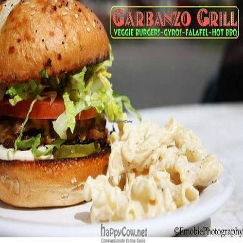 Photo of CLOSED: The Garbanzo Grill Food Cart  by Chuck <br/>Veggie burger <br/> July 11, 2011  - <a href='/contact/abuse/image/21870/9621'>Report</a>