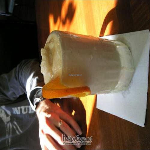 """Photo of CLOSED: McFoster's Natural Kind Cafe  by <a href=""""/members/profile/happycowgirl"""">happycowgirl</a> <br/>Ginger Soy Smoothie <br/> April 8, 2011  - <a href='/contact/abuse/image/2188/8133'>Report</a>"""