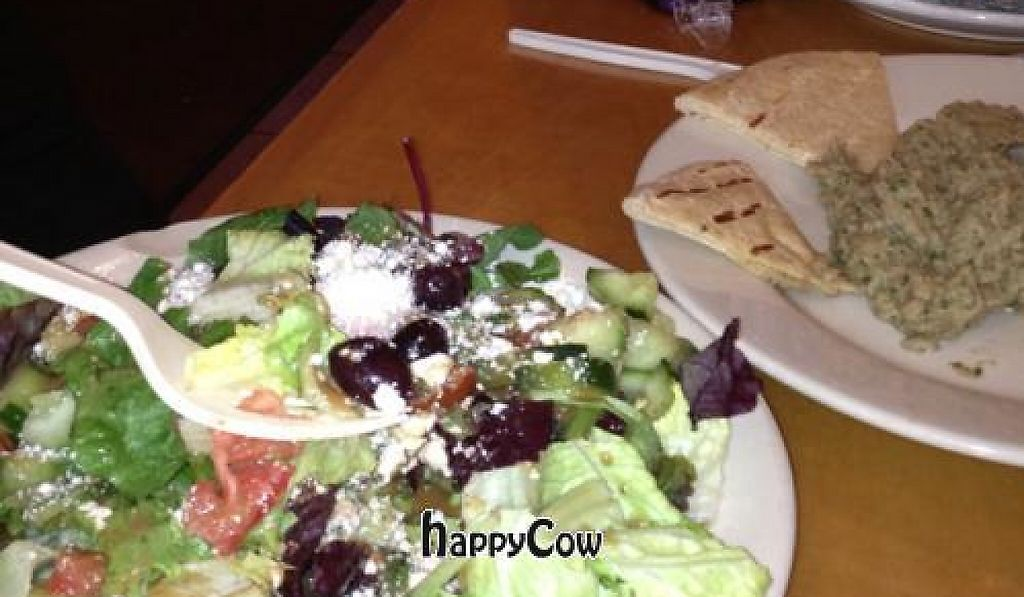 """Photo of La Cocina de Luz  by <a href=""""/members/profile/Azang"""">Azang</a> <br/>Greek salad and babaganouj from the caravaan  <br/> February 5, 2013  - <a href='/contact/abuse/image/21921/191346'>Report</a>"""