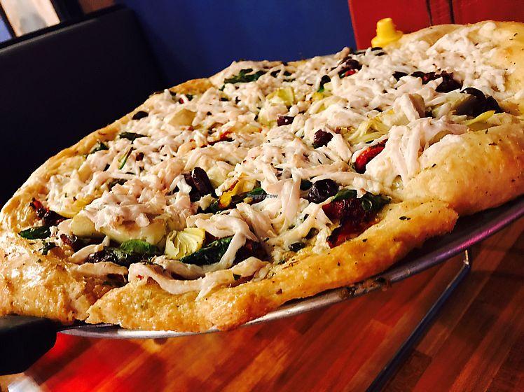 "Photo of Mac's Pizza Pub  by <a href=""/members/profile/kjconrad88"">kjconrad88</a> <br/>Vegan Tree Hugger pizza! <br/> June 22, 2017  - <a href='/contact/abuse/image/21956/272416'>Report</a>"