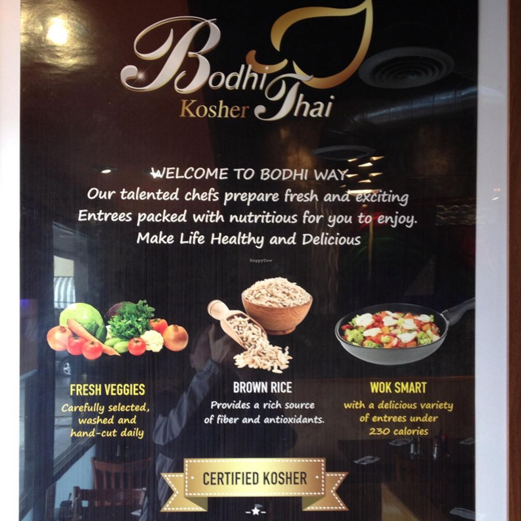 """Photo of Bodhi Thai Kitchen  by <a href=""""/members/profile/Beryl"""">Beryl</a> <br/>95% vegan, 100 % vegetarian... and Kosher :) <br/> March 4, 2014  - <a href='/contact/abuse/image/21990/65274'>Report</a>"""
