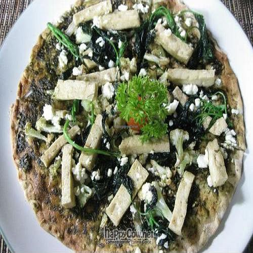 """Photo of CLOSED: Sari Organic Cafe at Little Tree  by <a href=""""/members/profile/cvxmelody"""">cvxmelody</a> <br/>Vegan pizza with broccoli, tofu topping <br/> January 31, 2011  - <a href='/contact/abuse/image/21991/7261'>Report</a>"""