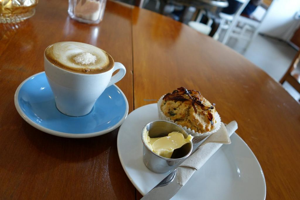 """Photo of CLOSED: Cosset  by <a href=""""/members/profile/M%20A%20N%20U"""">M A N U</a> <br/>Wonderful Vegan Savory Muffin with Soy Flat White <br/> August 28, 2014  - <a href='/contact/abuse/image/21993/78531'>Report</a>"""