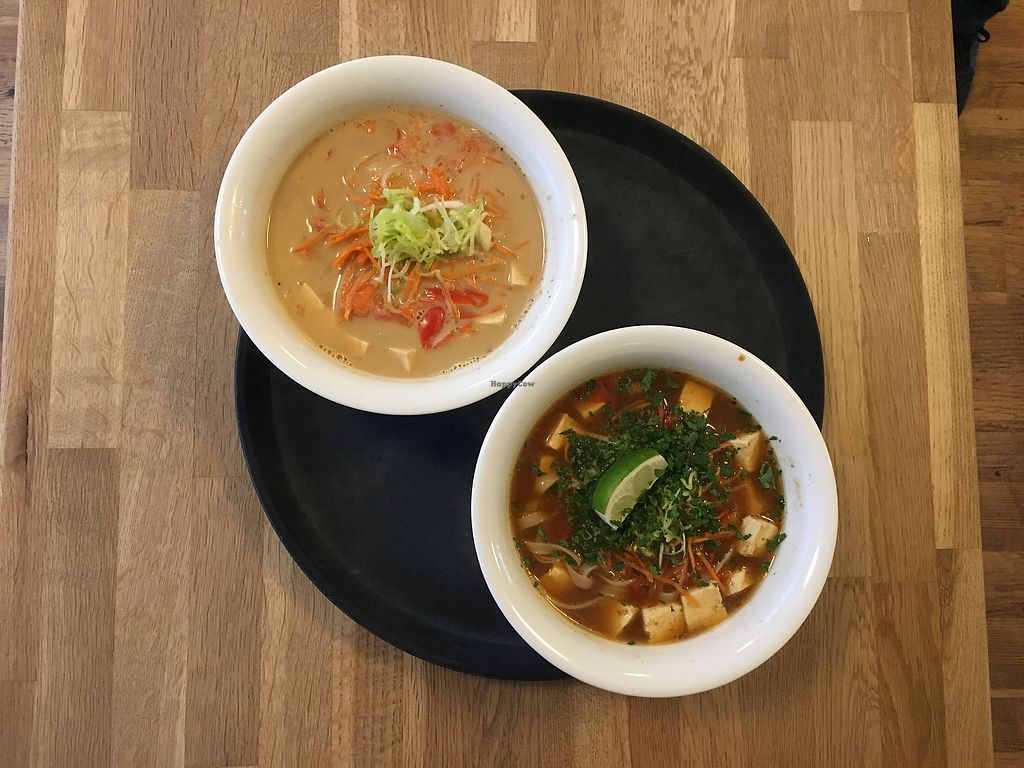 """Photo of Nudluskalin  by <a href=""""/members/profile/MelG"""">MelG</a> <br/>Anything on the menu can be customized vegan! <br/> October 27, 2017  - <a href='/contact/abuse/image/22006/319270'>Report</a>"""