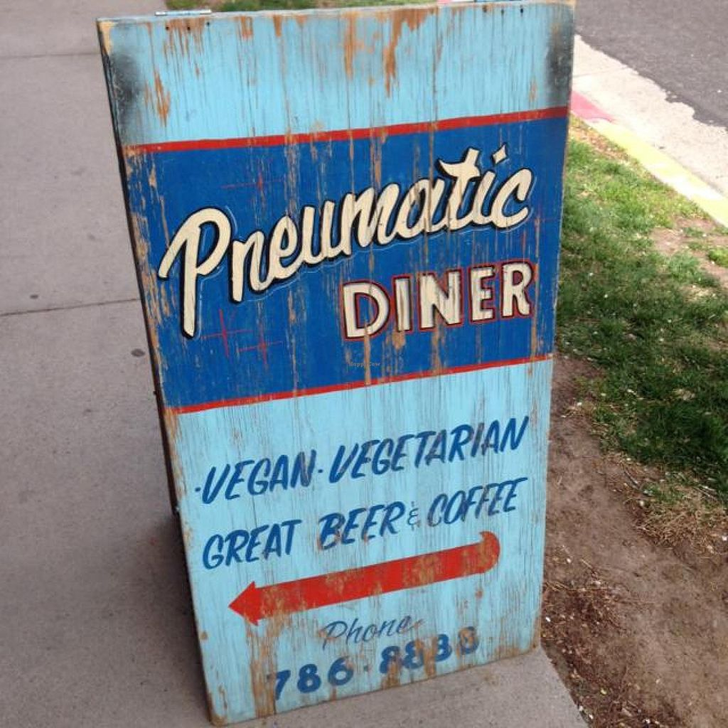 "Photo of CLOSED: Pneumatic Diner  by <a href=""/members/profile/amandapanda77"">amandapanda77</a> <br/>The sign outside - can be a little hard to find otherwise! <br/> March 28, 2014  - <a href='/contact/abuse/image/2200/66669'>Report</a>"