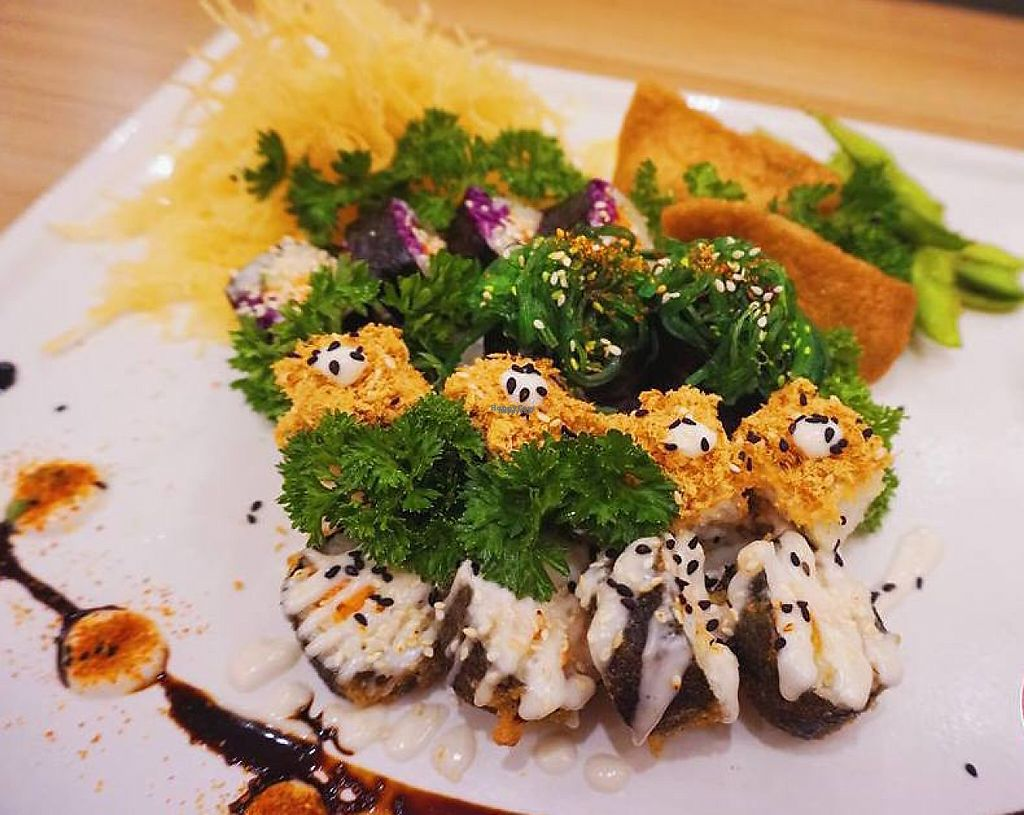 """Photo of Sushi Kitchen - Sungai Ara  by <a href=""""/members/profile/Faye1"""">Faye1</a> <br/>5 varieties of Sushi. Must try the deep fried sushi - Global warming. Suitable for Family or group of friends. MUST TRY ! <br/> April 28, 2017  - <a href='/contact/abuse/image/22027/253308'>Report</a>"""