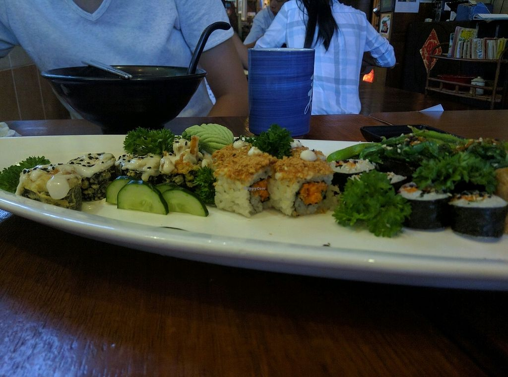 """Photo of Sushi Kitchen - Sungai Ara  by <a href=""""/members/profile/Summer_Tan"""">Summer_Tan</a> <br/>S21: Happiness Family Sushi Set - RM36 Pretty good. Considering how you wouldn't find anything similar elsewhere, the price isn't too unreasonable but definitely on the high side <br/> January 28, 2018  - <a href='/contact/abuse/image/22027/351945'>Report</a>"""