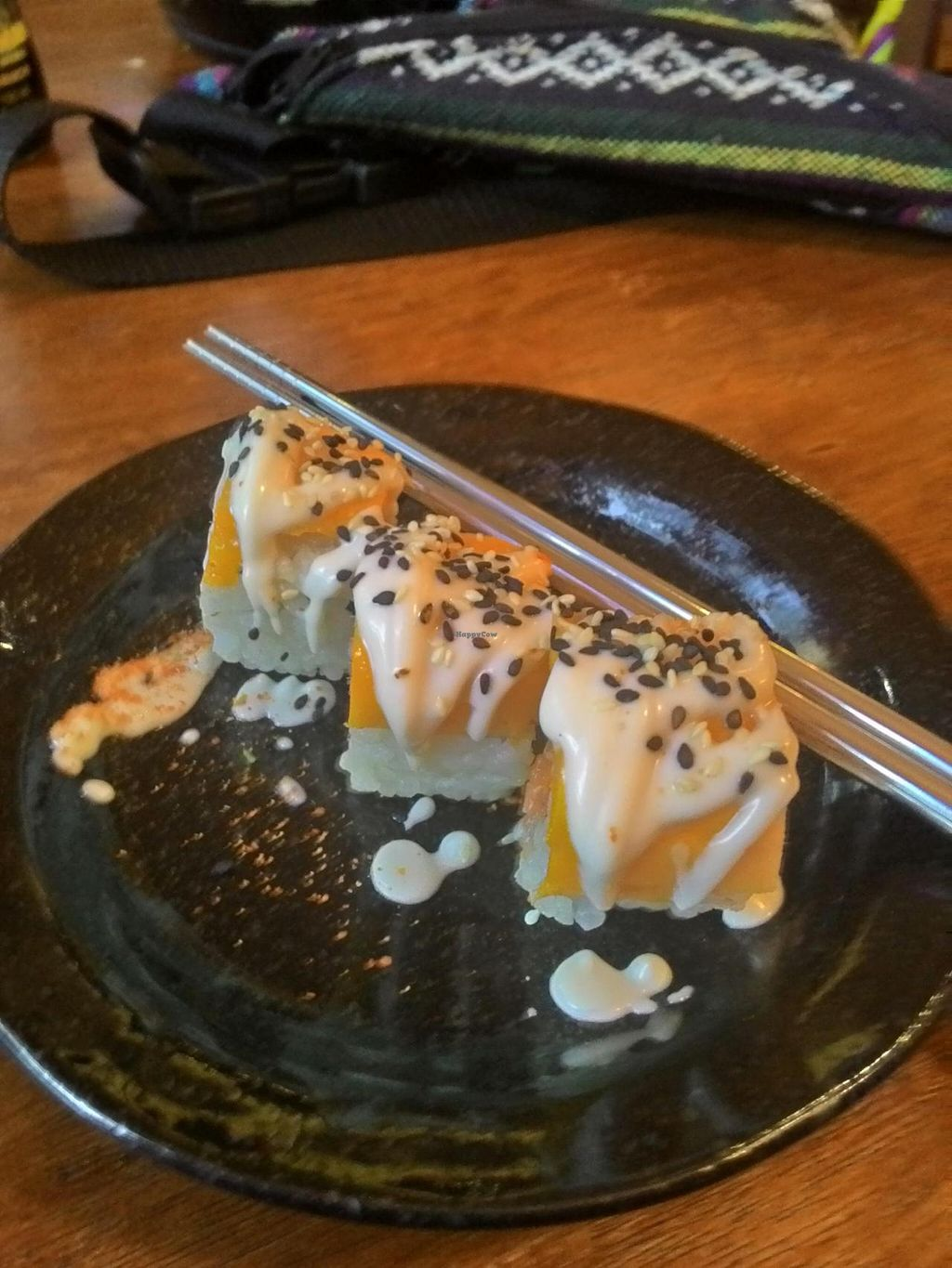"""Photo of Sushi Kitchen - Sungai Ara  by <a href=""""/members/profile/RenkeFlexanist"""">RenkeFlexanist</a> <br/>'Golden Age' inside-out roll, simply amazing! <br/> September 12, 2014  - <a href='/contact/abuse/image/22027/79645'>Report</a>"""