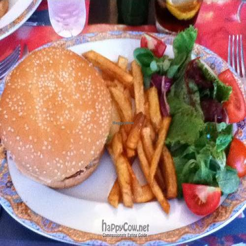 "Photo of La Vaina  by <a href=""/members/profile/veggiesara"">veggiesara</a> <br/>Veggieburger (tofu + seaweed), salad and fries <br/> July 31, 2011  - <a href='/contact/abuse/image/22040/9907'>Report</a>"