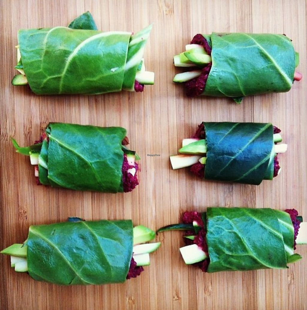 "Photo of Gurmama  by <a href=""/members/profile/community"">community</a> <br/>wrap with red beet hummus, avocado, kalamata and sesame <br/> May 31, 2016  - <a href='/contact/abuse/image/22067/243799'>Report</a>"