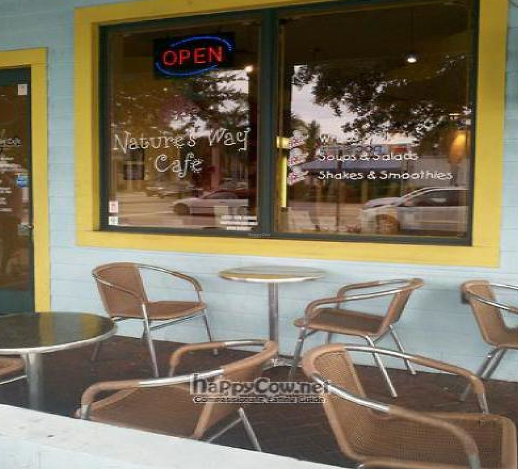 """Photo of CLOSED: Nature's Way Cafe  by <a href=""""/members/profile/gr8vegan"""">gr8vegan</a> <br/>Window signage <br/> August 12, 2011  - <a href='/contact/abuse/image/22068/195525'>Report</a>"""