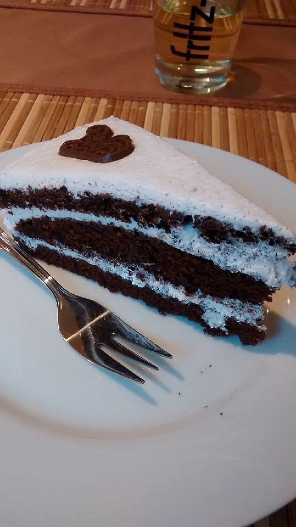 """Photo of Loving Hut  by <a href=""""/members/profile/BlisterBlue"""">BlisterBlue</a> <br/>Chocolate layer-cake for dessert, delicious! <br/> January 10, 2017  - <a href='/contact/abuse/image/22089/210321'>Report</a>"""