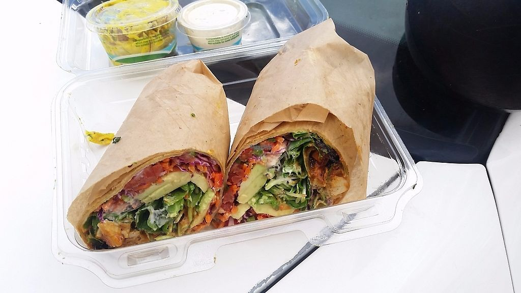 """Photo of Pomegranate Cafe - Chandler Blvd  by <a href=""""/members/profile/WhatDoYouEatThen"""">WhatDoYouEatThen</a> <br/>wrap to go from Pomegranate Cafe Jan 2017 <br/> March 5, 2017  - <a href='/contact/abuse/image/22101/232946'>Report</a>"""