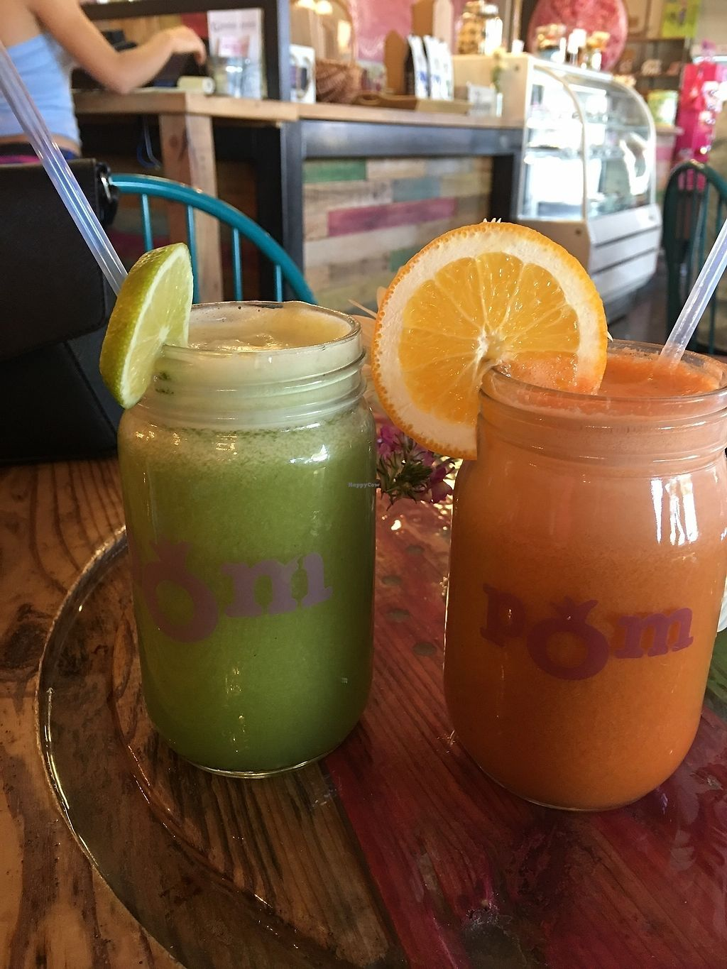 """Photo of Pomegranate Cafe - Chandler Blvd  by <a href=""""/members/profile/Dnymud"""">Dnymud</a> <br/>Healthy juice drinks at Pomegranate Cafe <br/> February 4, 2018  - <a href='/contact/abuse/image/22101/354631'>Report</a>"""