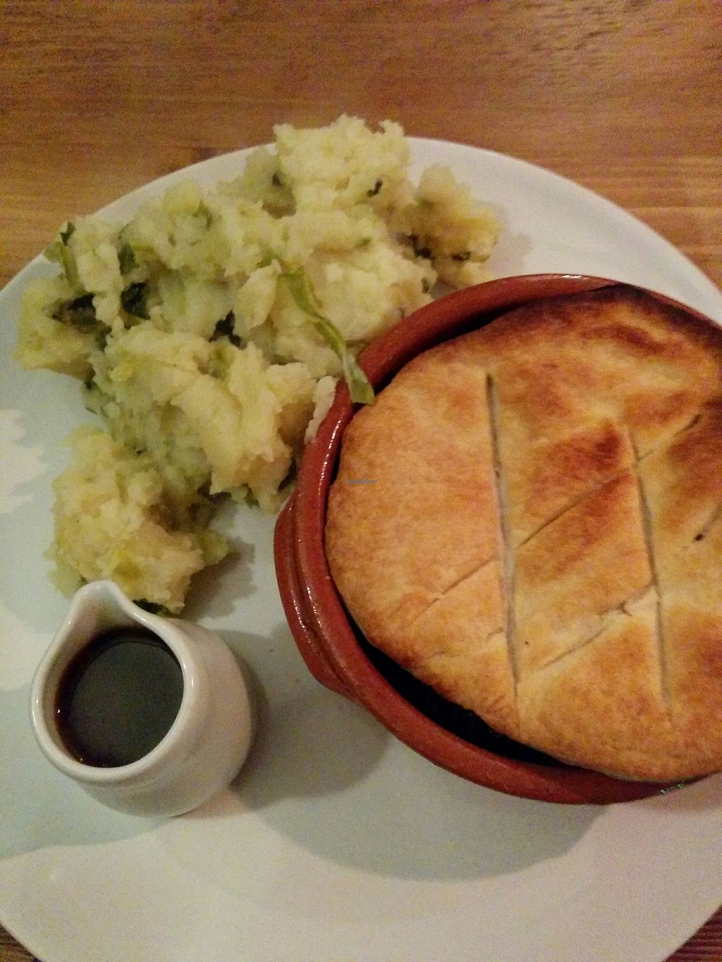 "Photo of Nelson's Wine Bar  by <a href=""/members/profile/CLRtraveller"">CLRtraveller</a> <br/>lentil pie with mash <br/> December 15, 2017  - <a href='/contact/abuse/image/22103/335825'>Report</a>"
