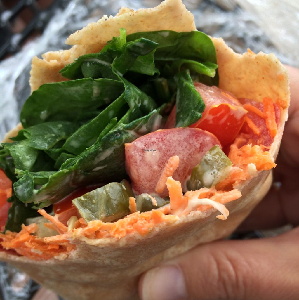 "Photo of Portsmouth Health Foods  by <a href=""/members/profile/Scuttlesbutt"">Scuttlesbutt</a> <br/>Delicious! Carrot, Pickle, Tomato, Spinach wrap with chipotle veganaise <br/> June 11, 2016  - <a href='/contact/abuse/image/2211/153509'>Report</a>"