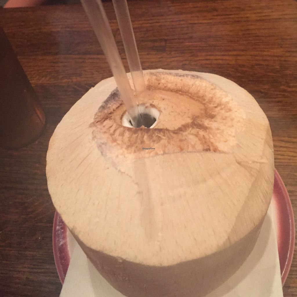 """Photo of Kaya's Kitchen  by <a href=""""/members/profile/lotusrkay"""">lotusrkay</a> <br/>drinking out of a coconut :)  <br/> July 31, 2016  - <a href='/contact/abuse/image/2213/163670'>Report</a>"""