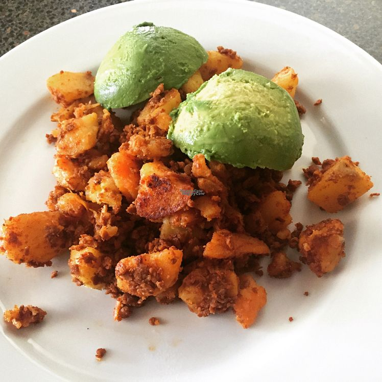 "Photo of Trader Joe's - South Lake Ave  by <a href=""/members/profile/VeganCookieLover"">VeganCookieLover</a> <br/>Soy chorizo, potatoes and avocado <br/> August 28, 2016  - <a href='/contact/abuse/image/22157/172043'>Report</a>"