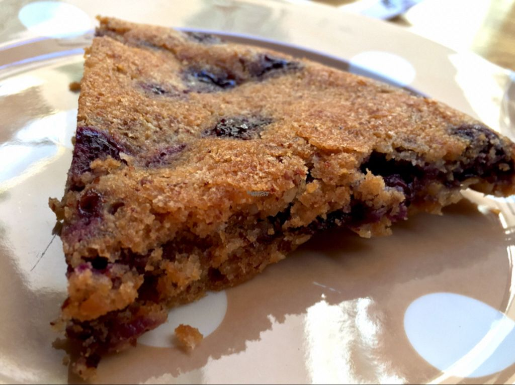"""Photo of CLOSED: Chez Helen  by <a href=""""/members/profile/NatalieDowelMcIntosh"""">NatalieDowelMcIntosh</a> <br/>Vegan blueberry cake <br/> August 3, 2016  - <a href='/contact/abuse/image/22266/164871'>Report</a>"""