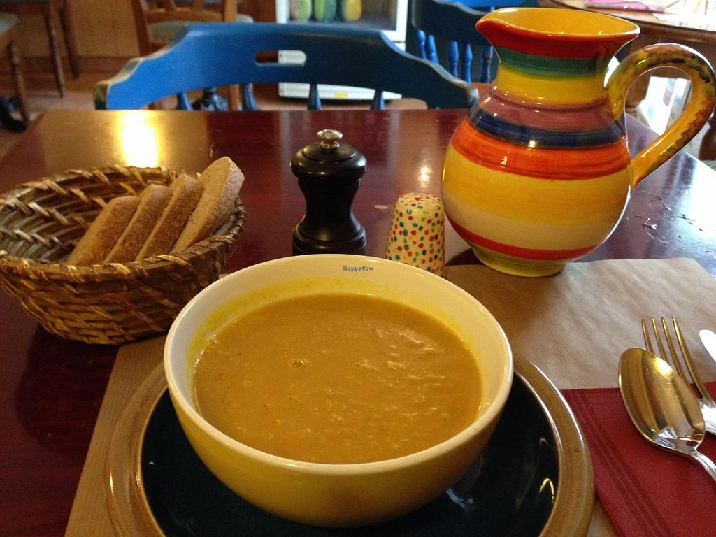 """Photo of CLOSED: Chez Helen  by <a href=""""/members/profile/Pamina"""">Pamina</a> <br/>Pumpkin, basil & ginger soup @ Chez Helen, Antibes <br/> January 5, 2015  - <a href='/contact/abuse/image/22266/89537'>Report</a>"""