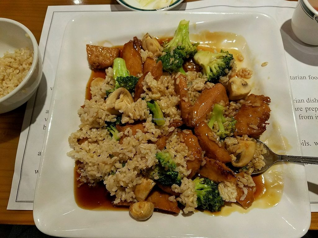 """Photo of Veggie Heaven  by <a href=""""/members/profile/Dark%26Stormy"""" class=""""title__title"""">Dark&Stormy</a> <br/>General Tso Chicken! excellent! <br/> November 28, 2017  - <a href='/contact/abuse/image/2231/329903'>Report</a>"""