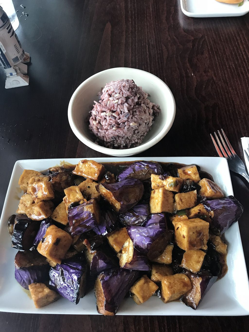 """Photo of Veggie Heaven  by <a href=""""/members/profile/SandraReis"""" class=""""title__title"""">SandraReis</a> <br/>Eggplant tofu <br/> August 5, 2018  - <a href='/contact/abuse/image/2231/444479'>Report</a>"""