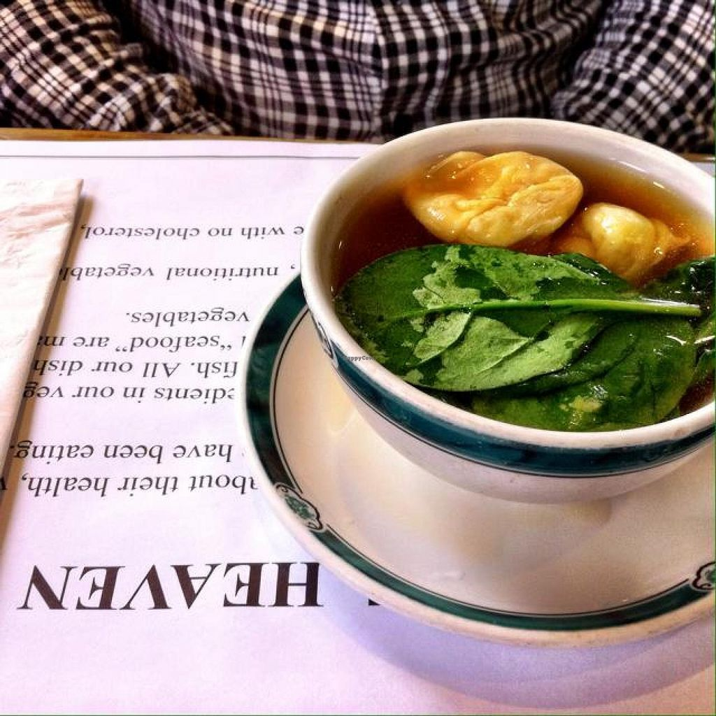 """Photo of Veggie Heaven  by <a href=""""/members/profile/KatelynCalautti"""" class=""""title__title"""">KatelynCalautti</a> <br/>won ton soup  <br/> July 19, 2014  - <a href='/contact/abuse/image/2231/74496'>Report</a>"""