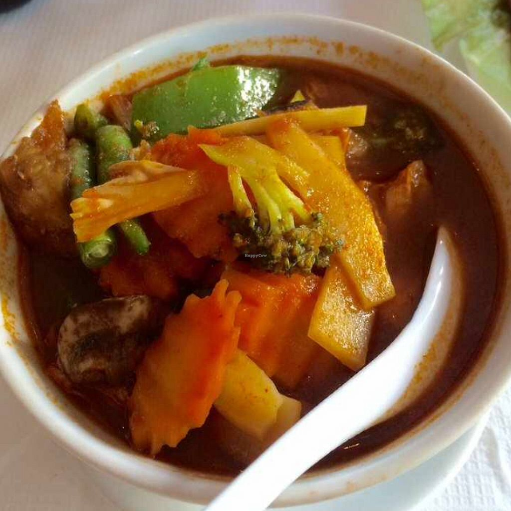 """Photo of Thai Village  by <a href=""""/members/profile/CiaraSlevin"""">CiaraSlevin</a> <br/>Vegetable jungle curry <br/> August 15, 2015  - <a href='/contact/abuse/image/22338/113675'>Report</a>"""