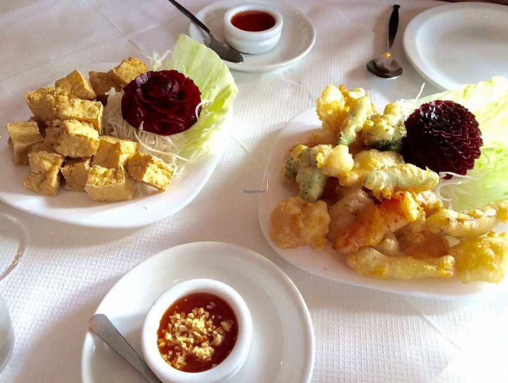 """Photo of Thai Village  by <a href=""""/members/profile/CiaraSlevin"""">CiaraSlevin</a> <br/>Bean curd & vegetable tempura starter <br/> August 15, 2015  - <a href='/contact/abuse/image/22338/239751'>Report</a>"""