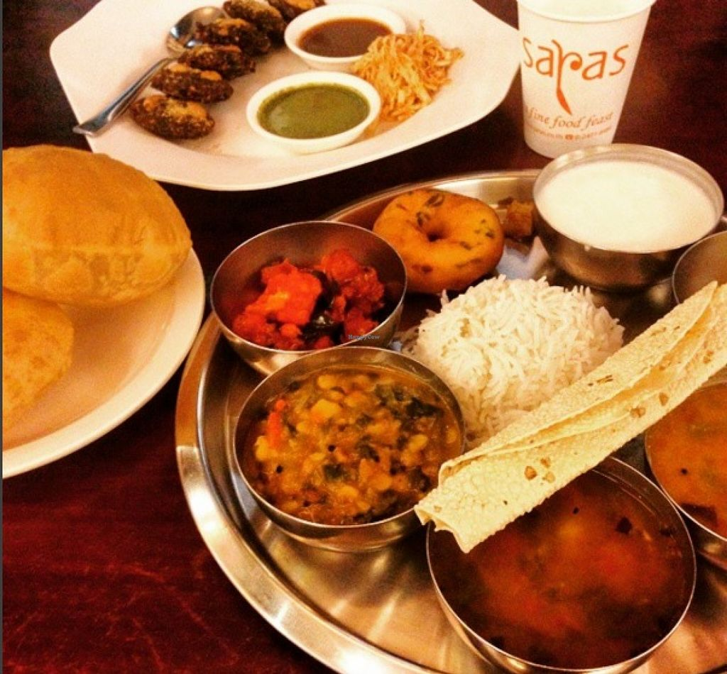 """Photo of Saras  by <a href=""""/members/profile/Plae"""">Plae</a> <br/>Southern Indian menu set. All is super yummy, especially the chickpea curry  <br/> March 28, 2016  - <a href='/contact/abuse/image/22465/141636'>Report</a>"""