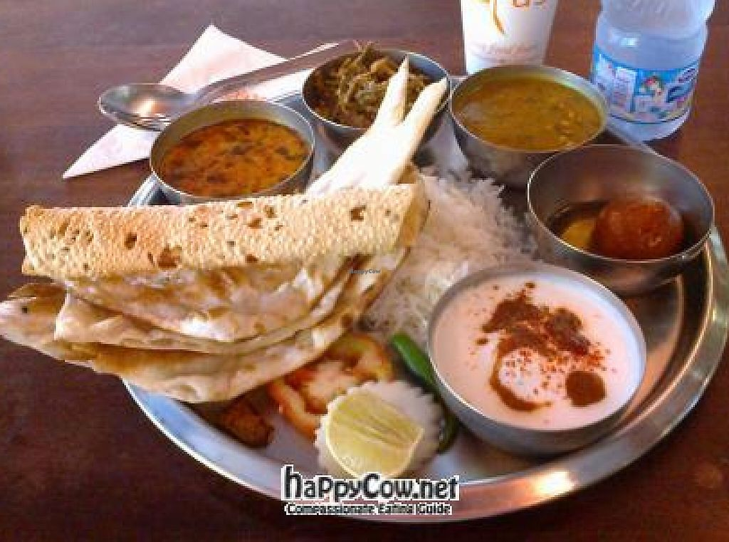 """Photo of Saras  by <a href=""""/members/profile/Dominick"""">Dominick</a> <br/>Rajasthani Vegetable Thali (Jain Version) <br/> June 15, 2012  - <a href='/contact/abuse/image/22465/192314'>Report</a>"""