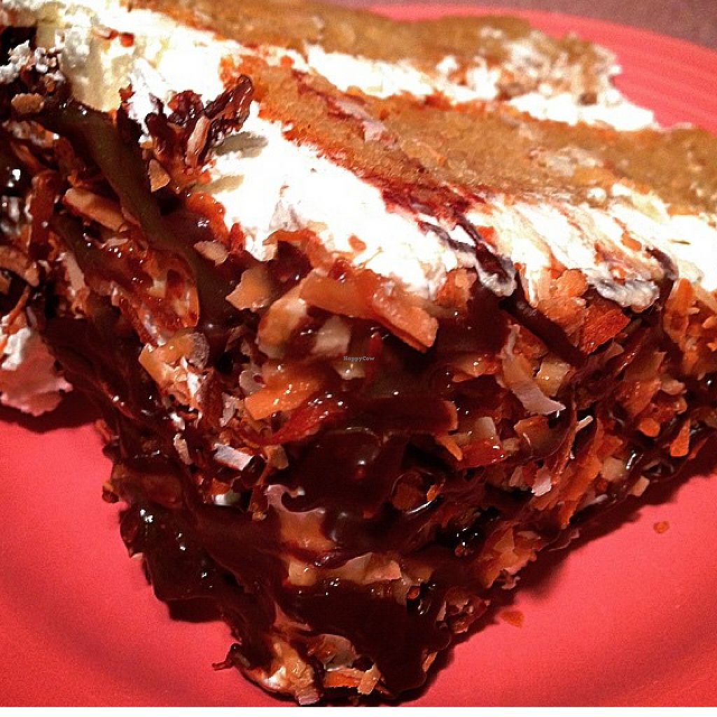 """Photo of Via Roma Pizza and Restaurant  by <a href=""""/members/profile/Crisveganfit"""">Crisveganfit</a> <br/>vegan Samoa cake  <br/> October 31, 2015  - <a href='/contact/abuse/image/22475/123330'>Report</a>"""